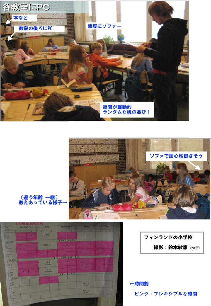 フィンランドの教室(撮影:鈴木敏恵)